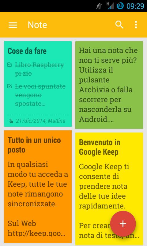 Google keep: un modo per non dimenticare nulla!