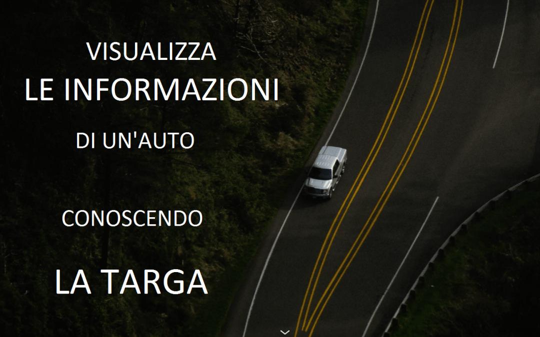 Scoprire le informazioni di un'automobile dalla targa
